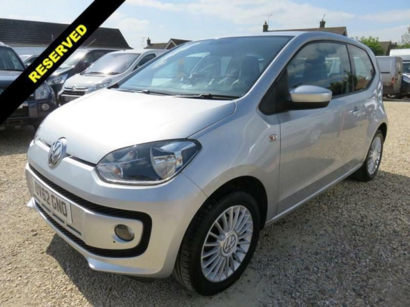 2012 62 VOLKSWAGEN UP 1.0 HIGH UP SILVER 52073 MILES FULL VW SERVICE HISTORY