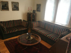 ESTATE SALE - SOFA, LOVESEAT & OTTOMAN