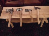 4 different old axes for sale