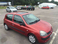 Renault Clio 1.2 Petrol 2005 Long Mot Warranted Mileage Timing Belt changed