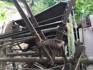 Antique farm machine