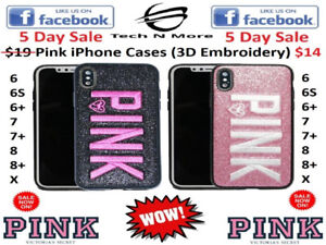 Pink iPhone Cases (3D Embroidery)(5 DAY SALE)