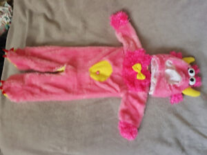 Pink furry monster Halloween costume size 12 - 18