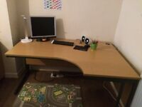Big office desk and chest of drawers
