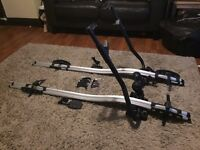 THULE bike racks x2, lockable with keys