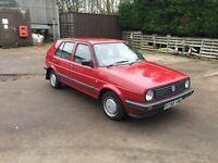 1989 Volkswagen mk2 Golf 1.6 cl 12 months MOT