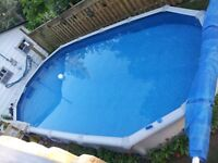 "30'x15' Above Ground 54"" sidewall oval Buttress free Pool"