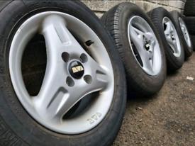 "13"" BWA 3 spoke alloy wheels 4x100 for Corsa Nova Micra Polo Lupo"