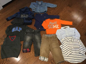 Gap toddler clothes12-18 month- 10 items for $40