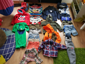Big bundle of boys clothes up to 3 year