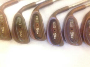 Rare PING EYE 2 Beryllium Copper Irons with KBS Shafts