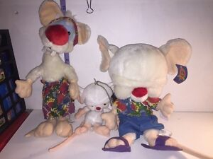 Pinky and the brain plush lot