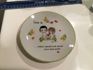 "love is...when a special look means more than words - 6"" plate"