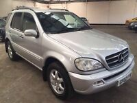 Mercedes ML500 Auto Fsh 7 seater Heated leather Sat Nav Air Con Rear Dvd Player 3 month warranty