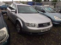 Y plate Audi A4 saloon silver 5 door 2 ltr petrol **motd till April 2017**