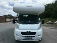 Mobilvetta 2009 Peugeot boxer 5/6 berth camper not elddis autoquest swift