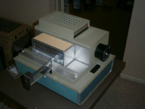 Argus Slide Projector, Trays with Projection Table and Screen