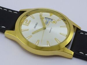 LARGE MENS SIEKO DAY AND DATE