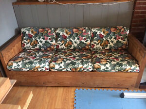 Crate & Barrel solid wood frame couch