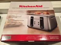 Brand New Kitchenaid 4 slice toaster