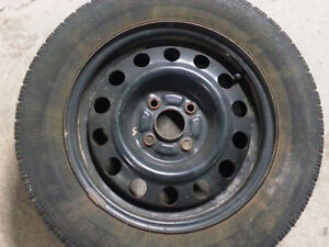 4 winter tires(14x65x185)& rims(4x100) for$120