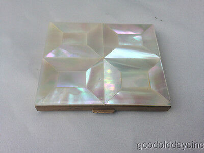 Vintage Marhill Mother of Pearl Compact Mirror