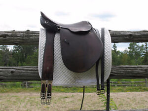 Kiefer close contact saddle and Schleese girth