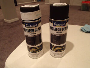 2 Cans Eastwood Radiator Black Satin Finish 12 oz Spray Can NEW