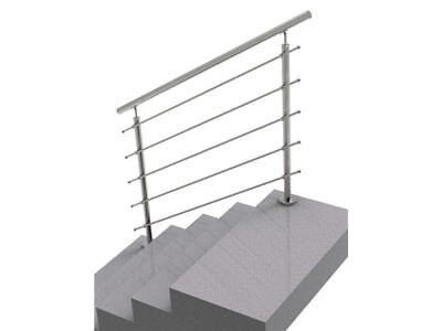 Handlauf Treppengeländer  Treppe Bausatz Edelstahl Bodenmontage 1,5m*100cm
