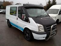 2009 FORD TRANSIT 85 T280S D/C FWD 2.2 TDCI, 6 SEATER CREW CAB, WHITE