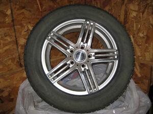 Winter tires with stubs and on rims