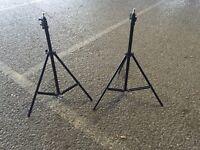 2 camera tripods