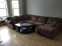 Microfibre Sectional w/ coffee table & pillows - $550 OBO