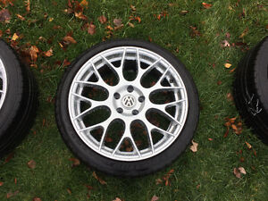 Set of 18 inch replica wheels and tires 5 x 112 fits most VW Oakville / Halton Region Toronto (GTA) image 4