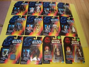 (12) STAR WARS POTF/EPISODE 1 FIGURES FROM 1995, 1996 AND 1999 London Ontario image 1