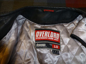 Motorcycle Leather Jacket ICON Overlord  Mint