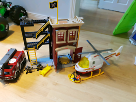 Fire Engine, Fire Station and Rescue Helicopter