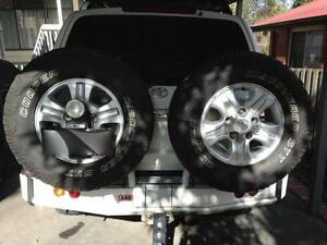 TOYOTA LANDCRUISER ARB REAR BAR DUAL TWIN WHEEL CARRIERS IFS Yagoona Bankstown Area Preview