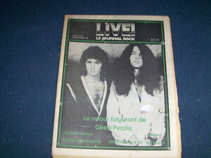 LIVE-LE JOURNAL ROCK-12/1984-DEEP PURPLE-TWISTED SISTER POSTER