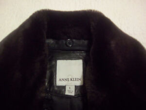 New Anne Klein  soft leather coat