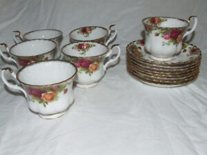 6 Old Country Roses Cup and saucers purchased as a set or indivi