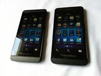 2 BlackBerry Z10's from Bell. Great condition. Great deal