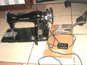 Vintage Kenmore De Luxe Heavy Duty Sewing Machine with pedal