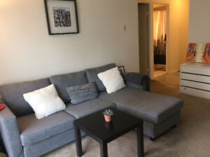 Sublet one bedroom apartment with parking close to downtown
