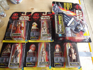 STAR WARS EPISODE I set of 5 talking figures and COMMTECH elect