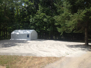 Offering outdoor space/parking for boats and trailers, cars