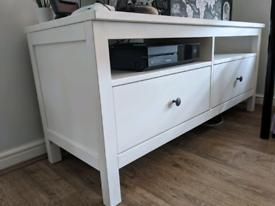 Ikea Hemnes TV Unit, white, 2 drawer