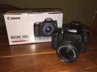 Canon EOS 70D W/18-55mm STM Lens