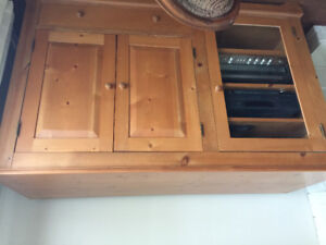 Locally made pine cabinet/entertainment unit
