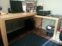 Desk with pull out panel